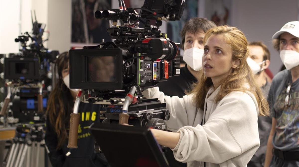 Leticia Dolera, durante el rodaje de la segunda temporada de 'Vida Perfecta'.