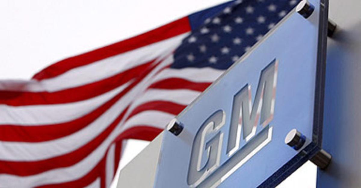 Logo de General Motors en la sede de la compañía en Detroit, Michigan (Estados Unidos).