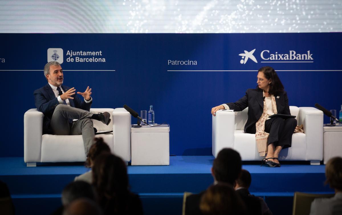 El teniente de alcalde de Barcelona, Jaume Collboni, durante las jornadas del Cercle d'Economia.