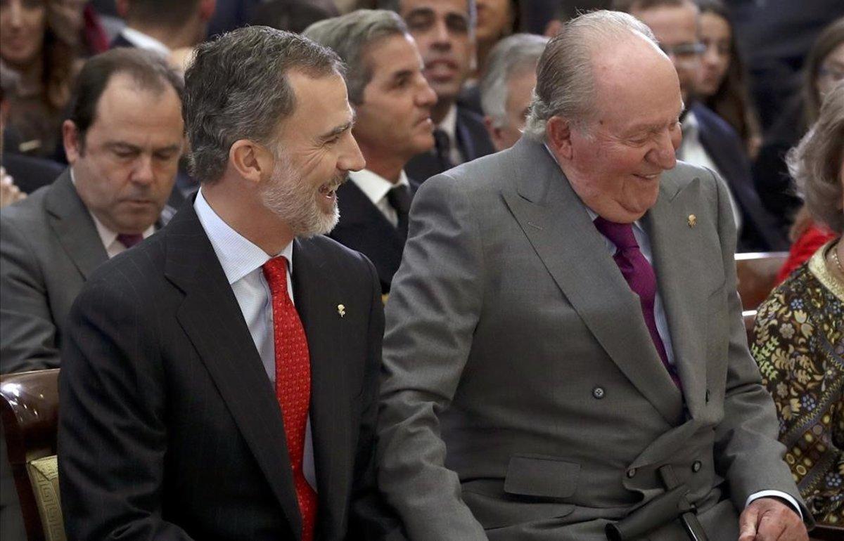 Felipe VI y el rey emérito Juan Carlos.