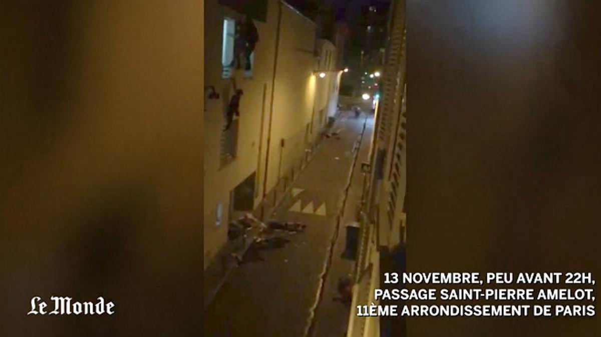 Imágenes del momento del asalto terroristaen la sala Bataclan de París.