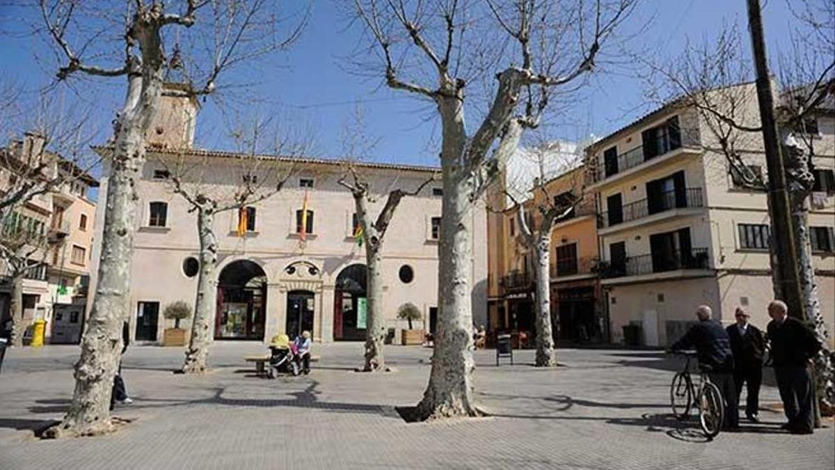 Plaza del Ayuntamiento en Sa Pobla, Mallorca