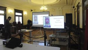 Preparativos en la Audiencia Provincial de León para la celebración del juicio.