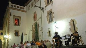 Conciertos al aire libre en Sitges, en julio del 2008.
