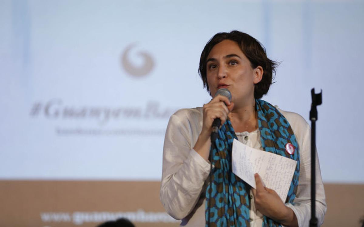Ada Colau, durante la presentación del nuevo partido Guanyem Barcelona, el pasado 26 de junio.