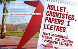 Cartel de las XXII Jornadas del Centre d'Estudis Molletans (CEM) de Mollet del Vallès.
