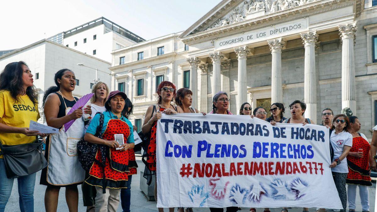 El sector de las trabajadoras del hogar ha acusado especialmente el golpe de la pandemia.
