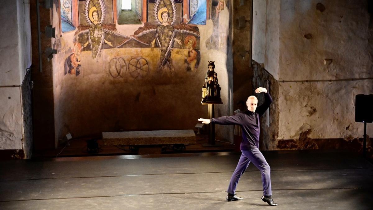 Cesc Gelabert, en el espectáculo inaugural en Santa Maria d'Àneu.