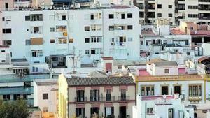 Edificios en la ciudad de Ibiza.