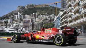 Sainz, en Mónaco.