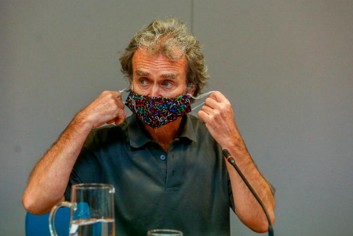 Fernando Simón, durante su comparecencia ante la prensa, hoy en Madrid.