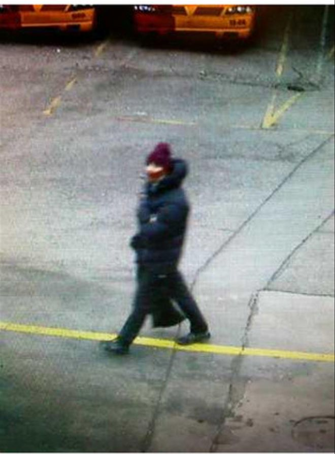 Imagen de uno de los asaltantes que difunde la policía danesa.