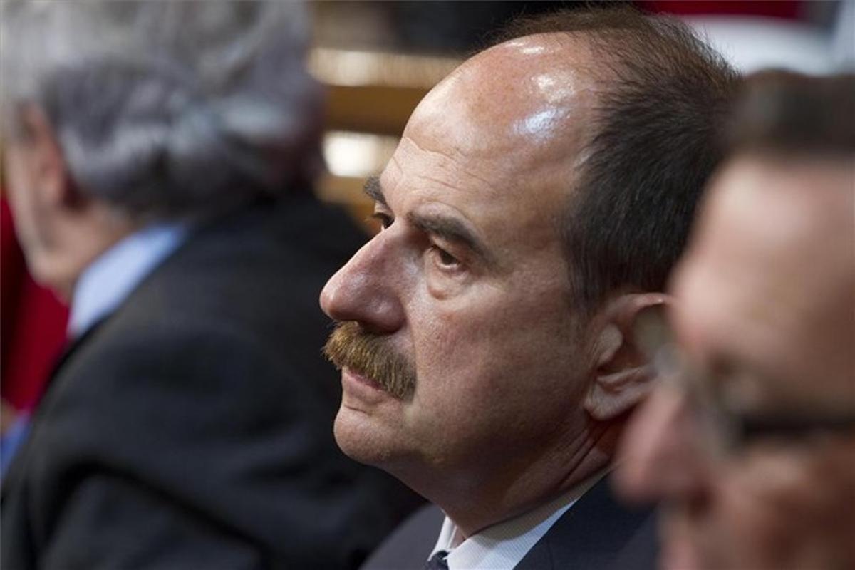 El exalcalde de Lloret, Xavier Crespo, en una sesión del Parlament.
