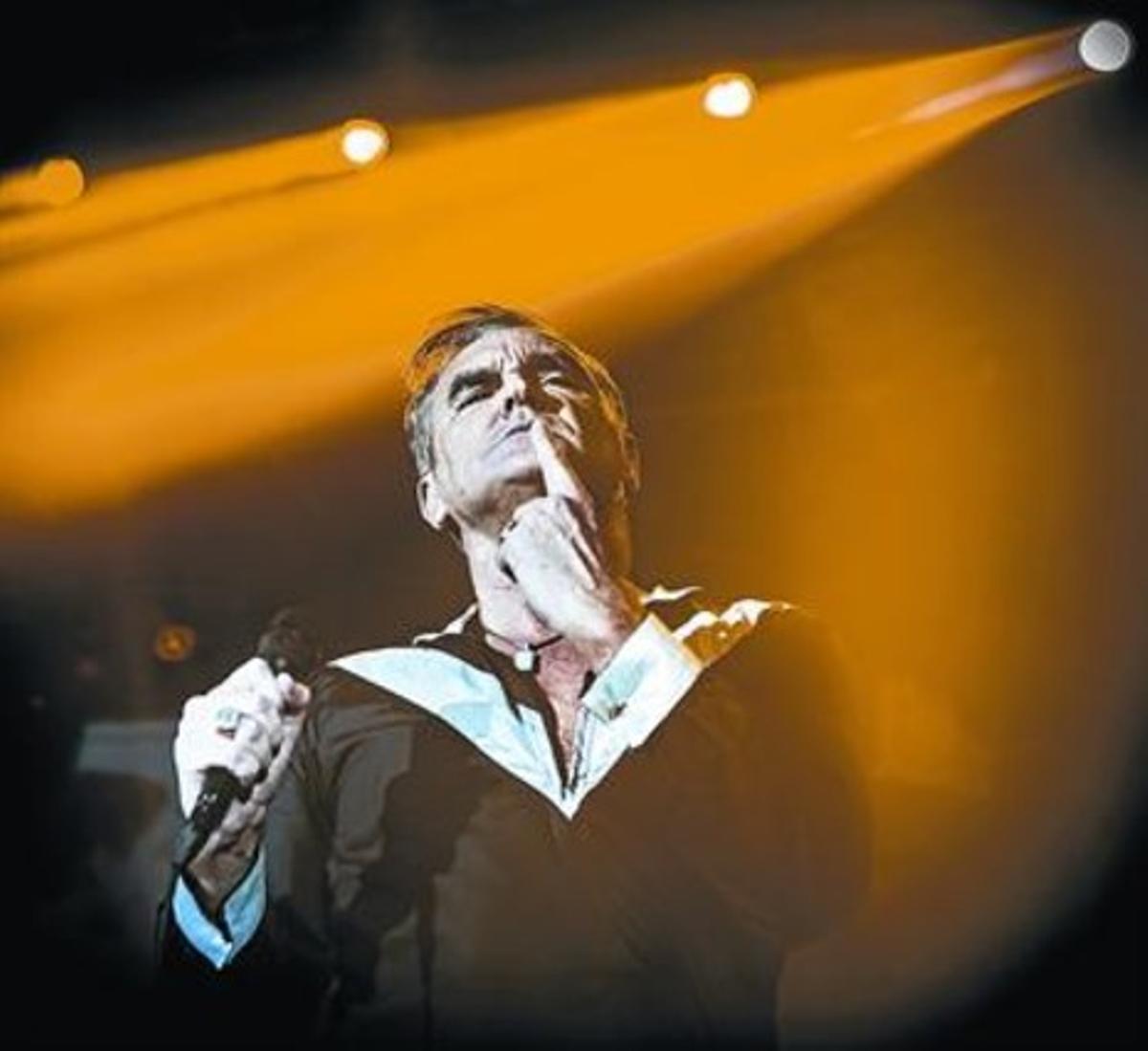 Morrissey, durante una actuación en Razzmatazz.