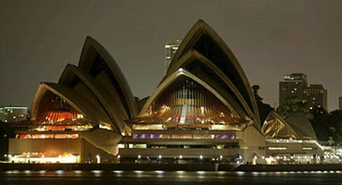 La Ópera de Sydney, se ha adherido a la 'Hora de la Tierra'.