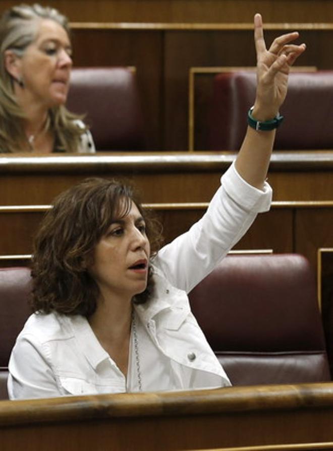 La diputada de UPD Irene Lozano, en una sesión de Control al Ejecutivo, en el Congreso.