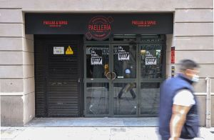 Restaurante cerrado en Barcelona.