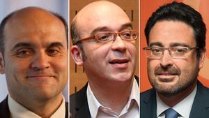Xavier Vendrell, Oriol Soler y David Madí, imputados en la investigación sobre el 'estado mayor' de CarlesPuigdemont.