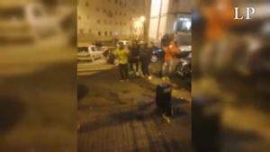 Protestas en Las Rehoyas contra las restricciones por el covid y la inmigración.