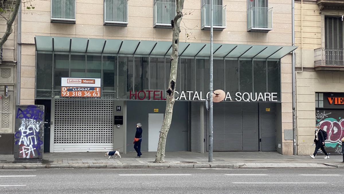 Hotel cerrado en Barcelona.