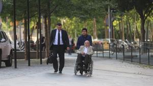 El expresidente del Palau de la Música, Fèlix Millet, llega al juicio, este miércoles.