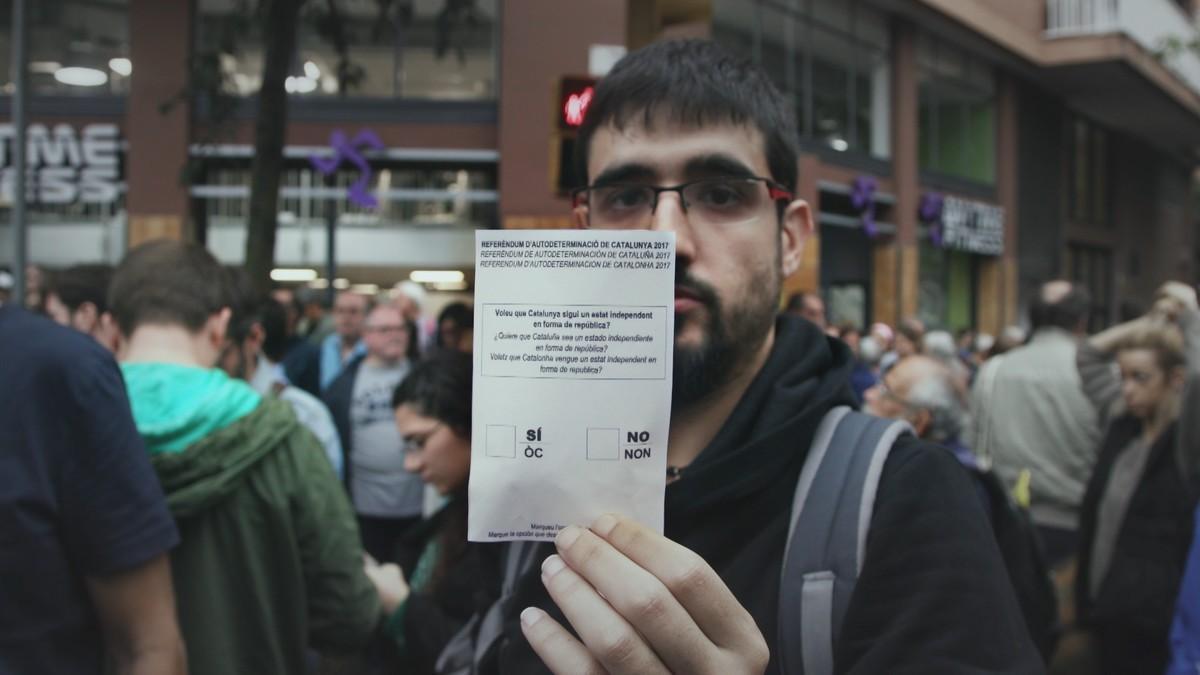 Imagen del reportaje de 'Sense ficció' '1-O'. El programa más visto de enero en Catalunya.