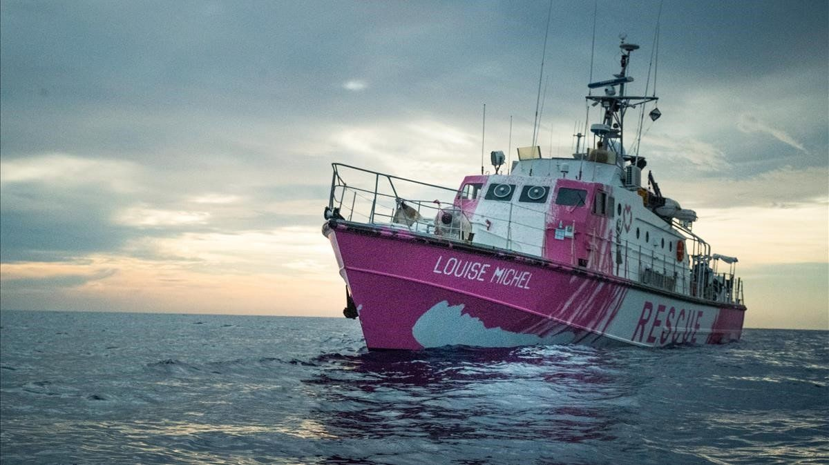 'Louise Michel', barco de salvamento de Banksy.