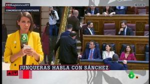 Ana Pastor y el saludo Junqueras-Sánchez.
