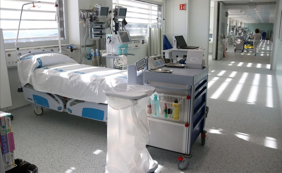 Can Ruti, en Badalona, pone en marcha un nuevo hospital satélite con cien camas para pacientes covid.