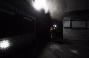 Imagen de archivo de un escape de gases en una mina.