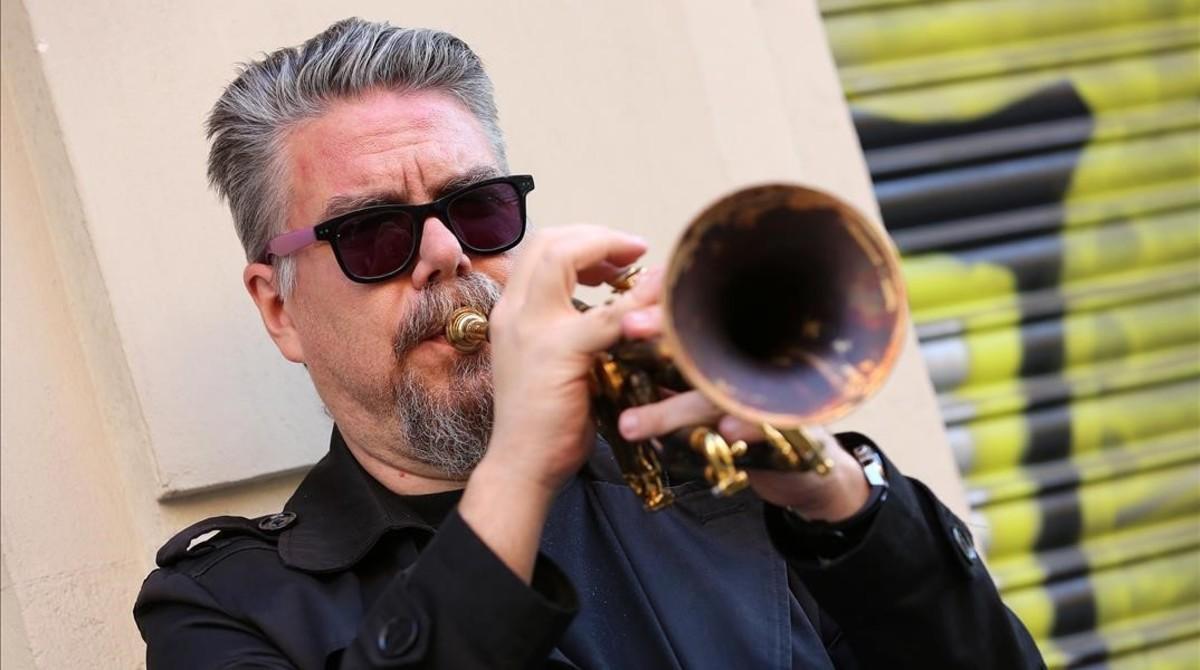 David Pastor, trompetista de jazz y líder del trío Nu-Roots.