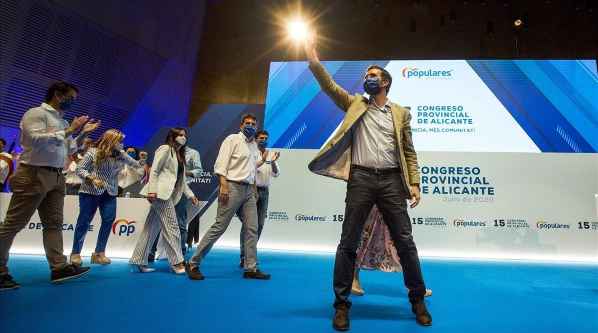Pablo Casado, este sábado en el congreso provincial de Alicante.