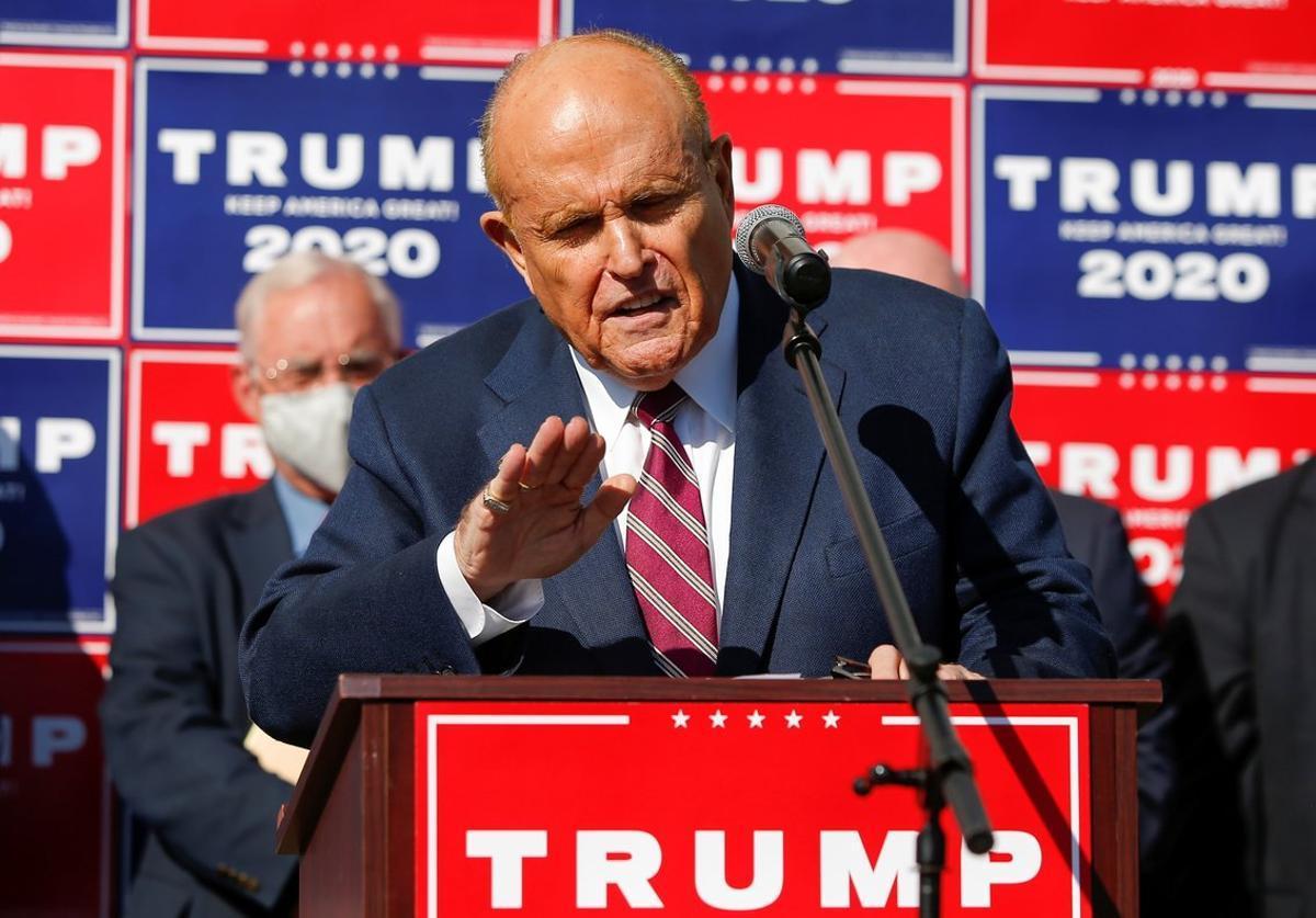 Rudolph Giuliani, en un acto de la campaña de Trump.