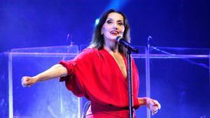 Luz Casal, en el Festival de la Porta Ferrada, el martes por la noche.