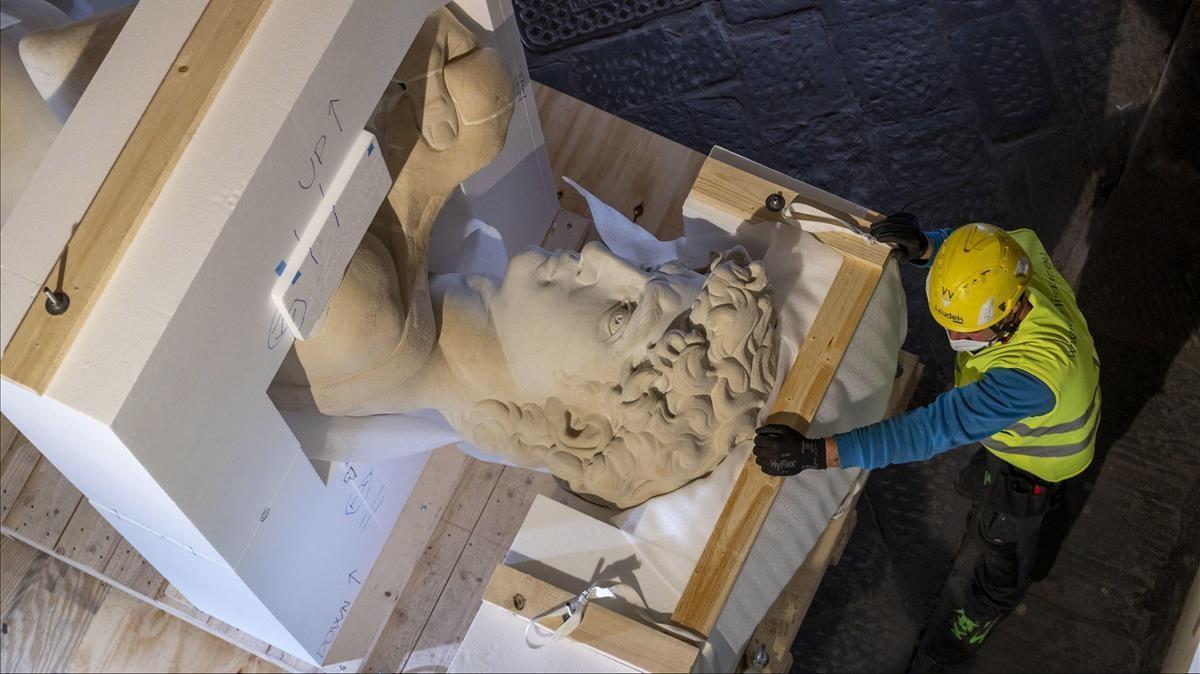 La reproducción en 3D del David de Miguel Ángel realizada en Florencia para exponer en Dubai
