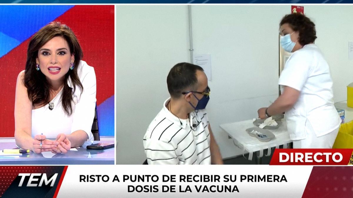 """Risto Mejide, emocionado tras vacunarse en directo: """"Empieza el final de esta pesadilla"""""""