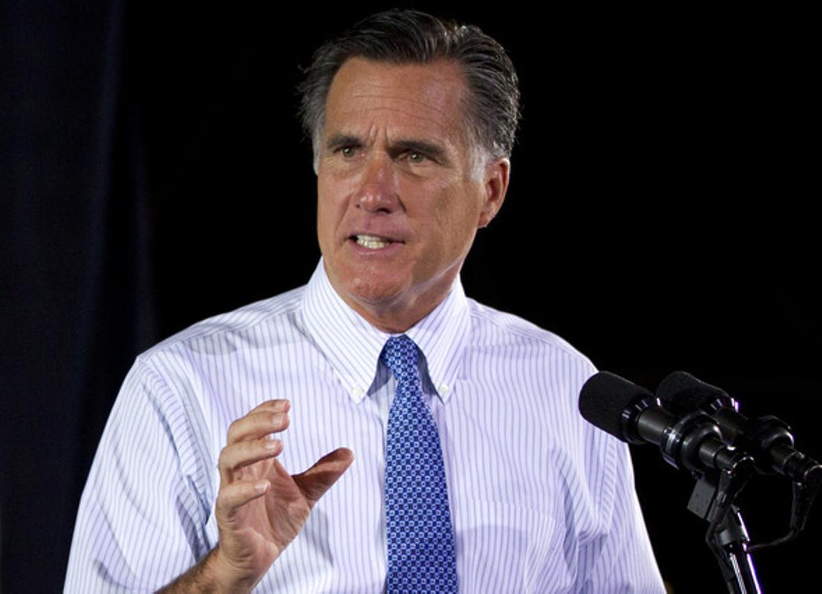 Mitt Romney interviene en un acto electoral en Saint Louis.
