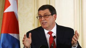 Bruno Rodríguez, el ministro de Exteriores de Cuba.