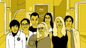 Dibujo con los principales actores de 'The Big Bang theory'.