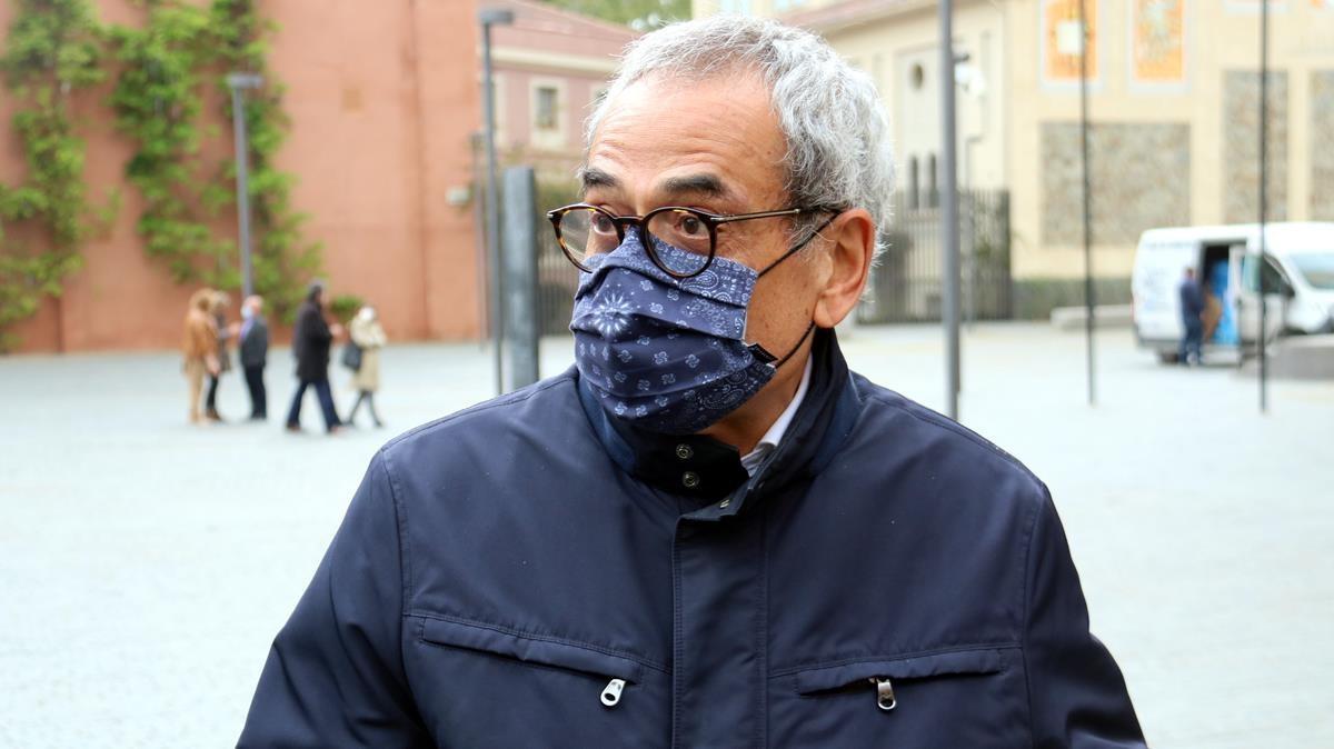 Pla mitja de Jaume Graells  el regidor del PSC que va denunciar el cas del Consell Esportiu  Imatge del 7 d abril del 2021 (Horitzontal) Pol Sola ACN