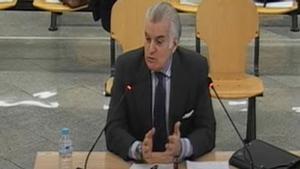 Bárcenas declara en el juicio por el supuesto pago con dinero negro de la reforma de la sede del PP.