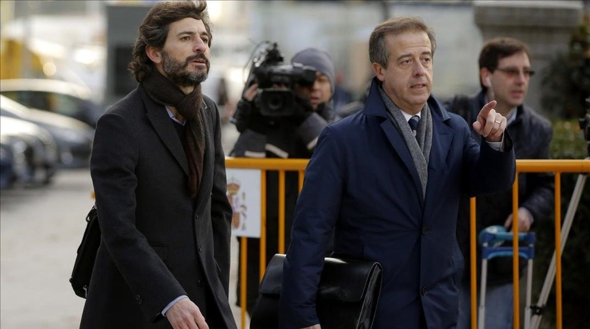 Oleguer Pujol, a su llegada a la Audiencia Nacional, el pasado 12 de enero.
