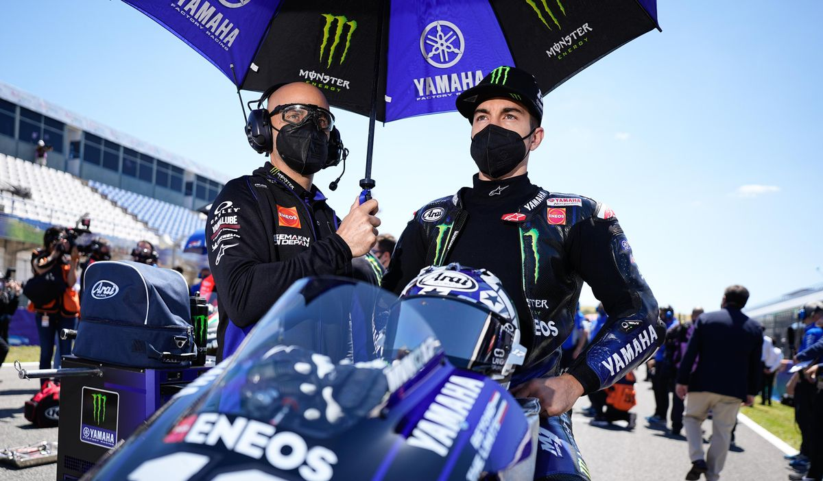 Maverick Viñales (Yamaha), nuevo piloto de Aprilia MotoGP.