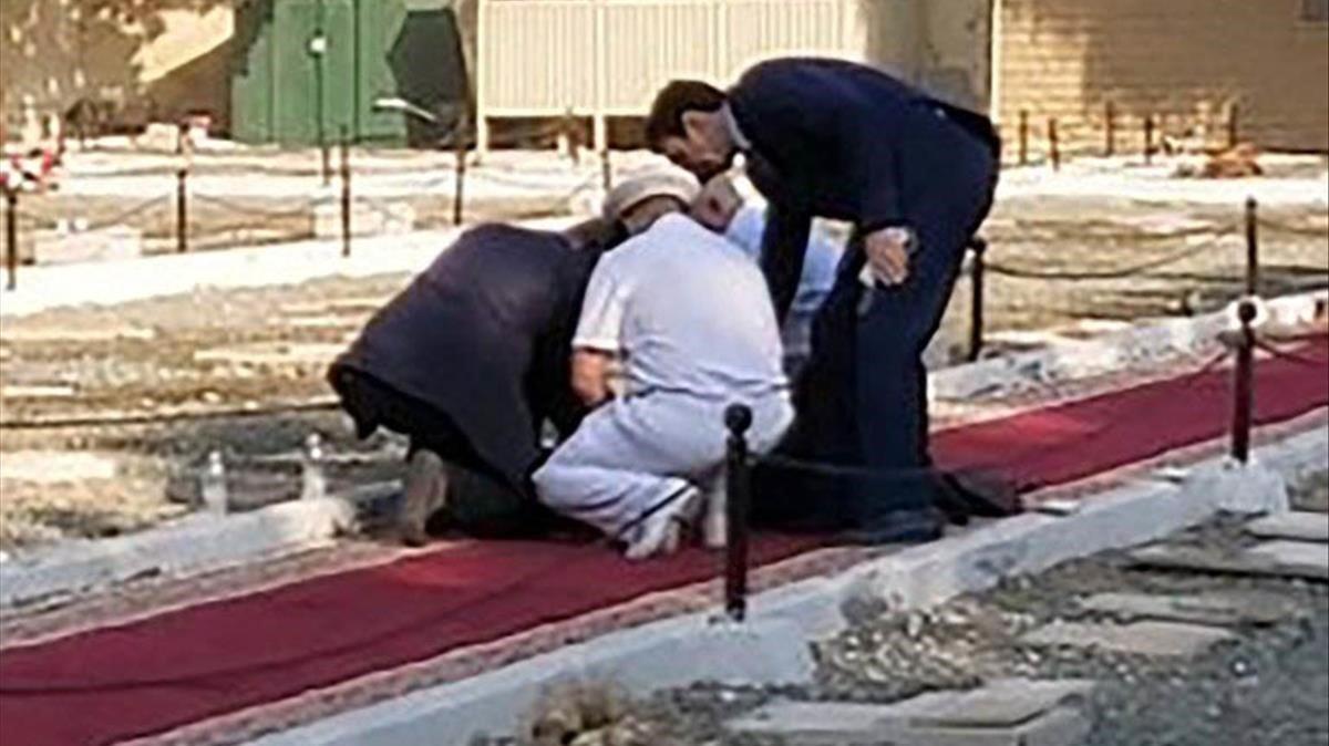 Lugar del atentado en el cementerio no musulmán de Yeda, en Arabia Saudí.