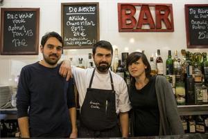 Los hermanos Guillero, Borja y Patricia Sierra, en la Granja Elena. Foto: Violeta Palazón