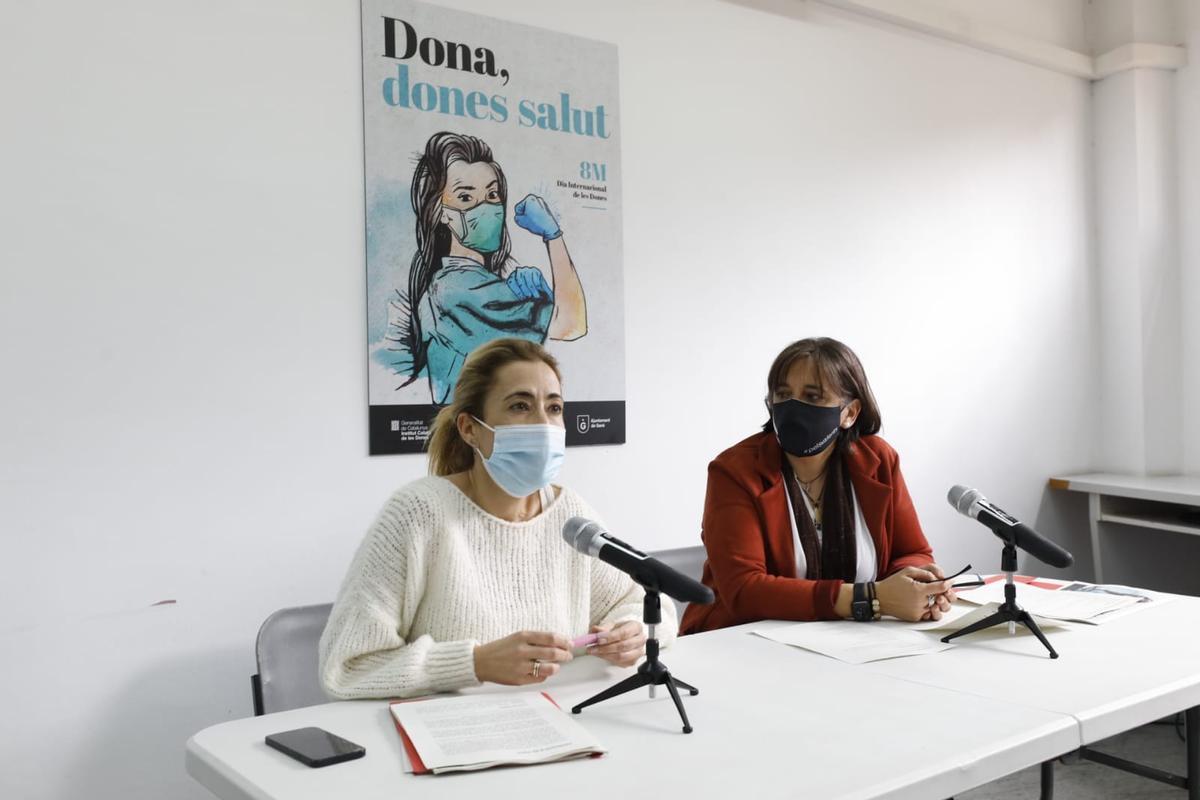 Raquel Sánchez y Gemma Badia presentan la campanya del 8M de este año en Gavà