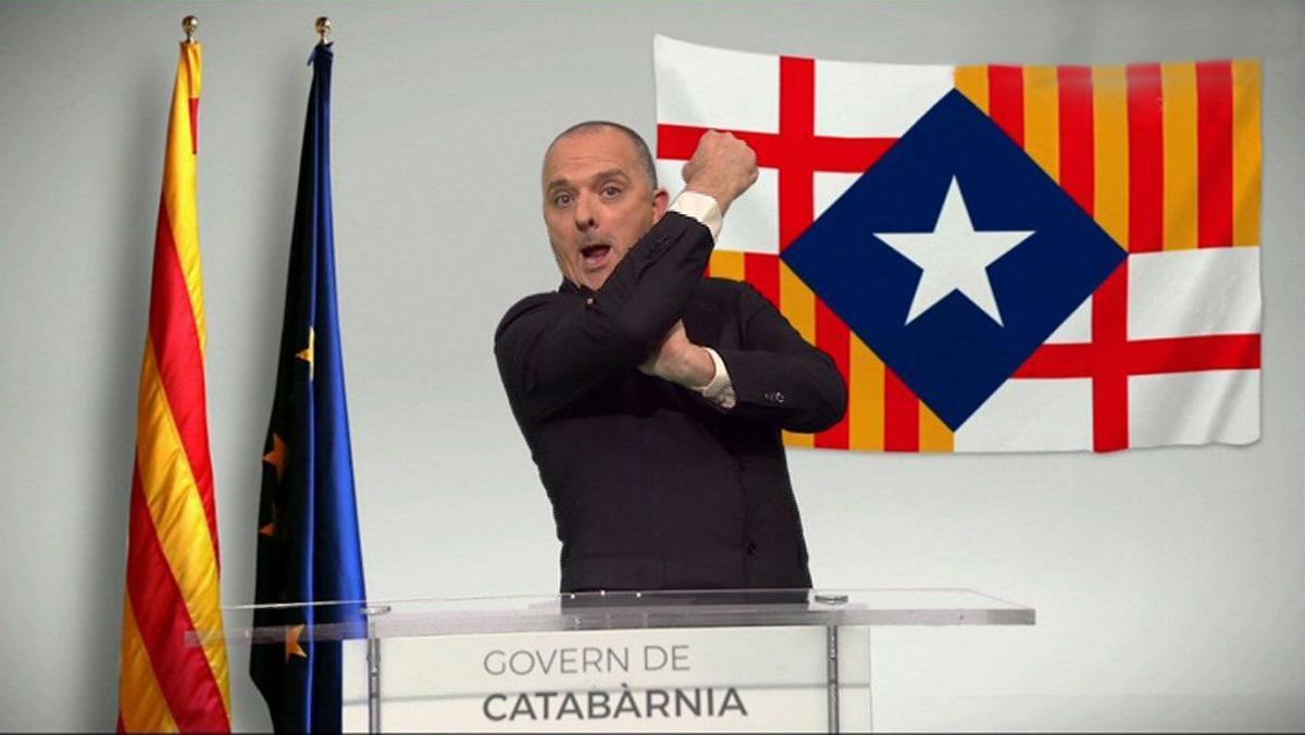 Toni Albà, 'president' de Catabàrnia, en TV-3.