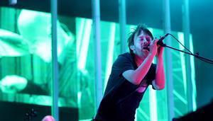 Thom Yorke, líder de Radiohead, en un concierto en Barcelona.
