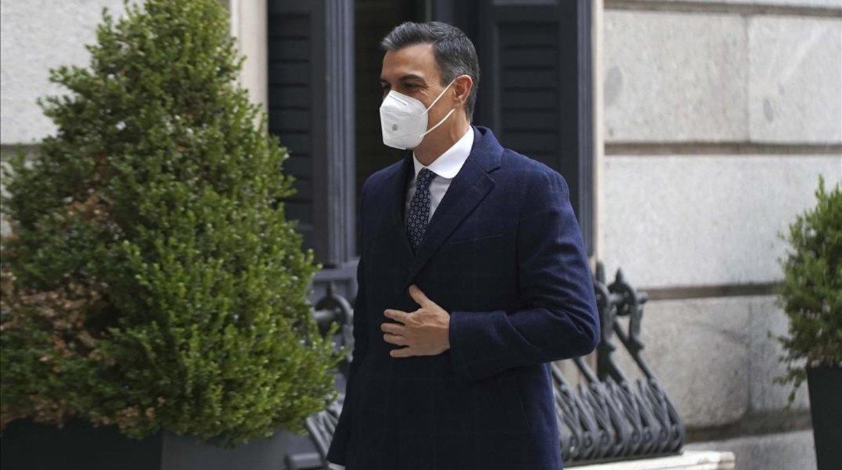 Pedro Sánchez llega al Congreso, el pasado 11 de noviembre.
