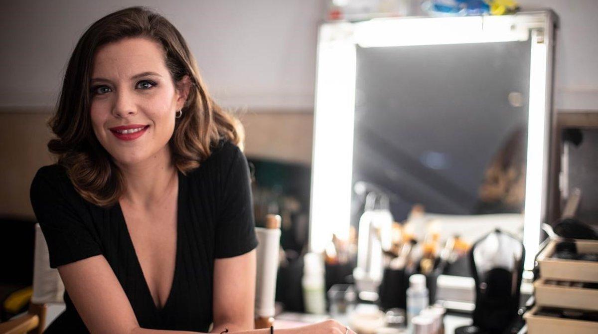 La actriz Andrea Ros, en el rodaje de 'Si no t'hagués conegut'.